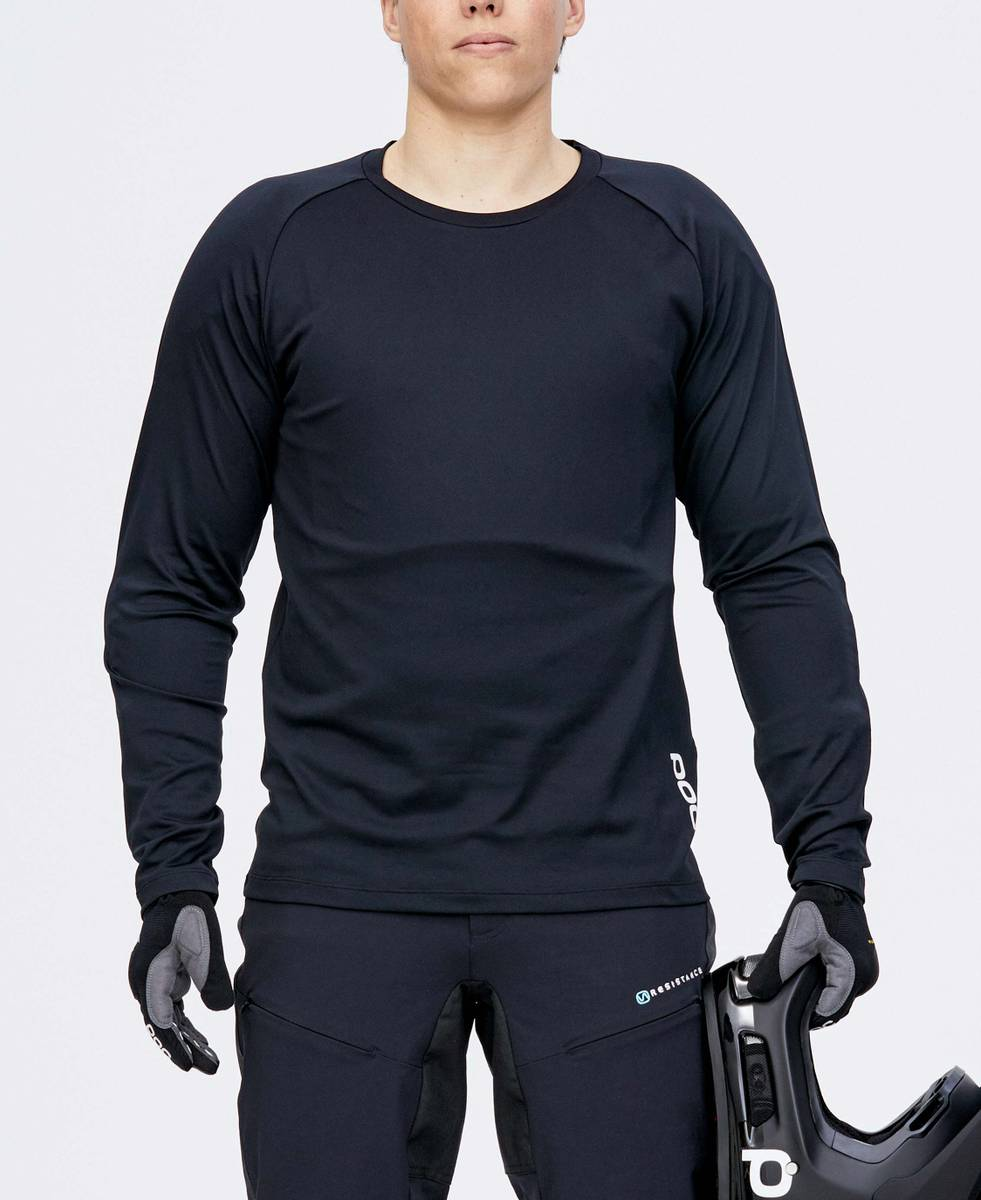 POC Essential DH LS Jersey Carbon Black