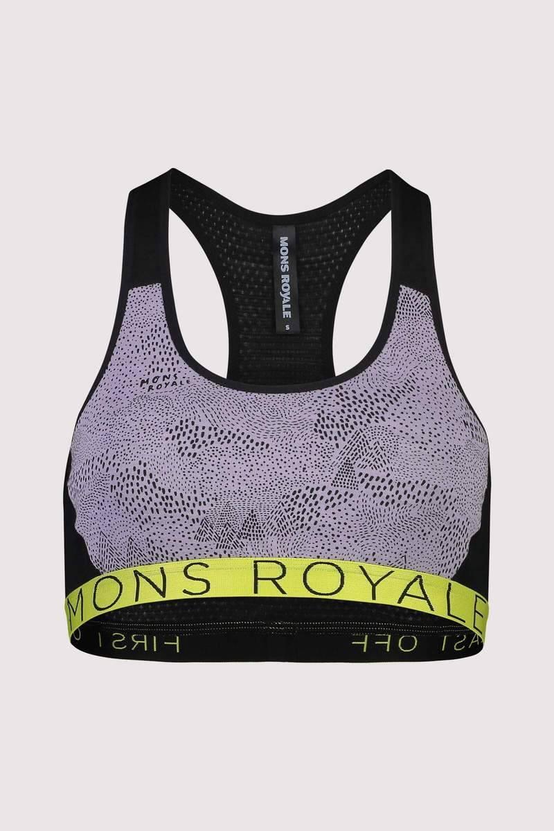 Mons Royale Sierra Sports Bra Lilac Micro