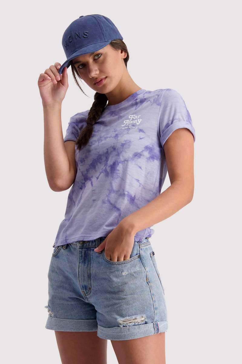 Mons Royale Icon Relaxed Tee Tie Dyed Lilac