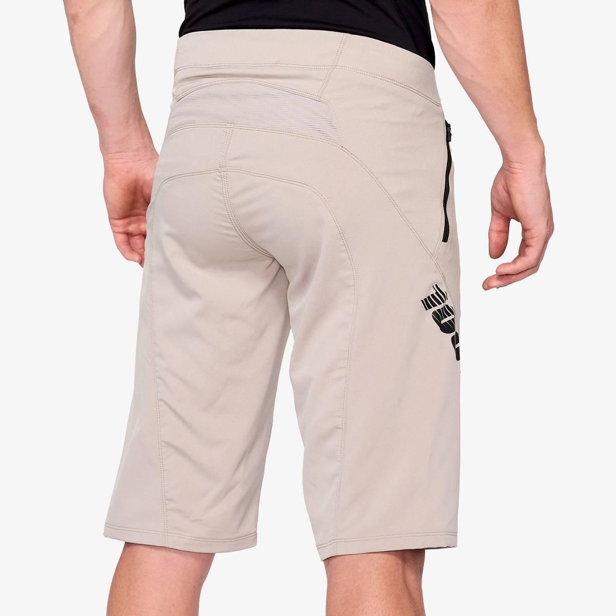 100% AIRMATIC Shorts Warm Grey